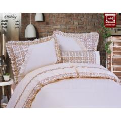 طقم سرير مقاس كبير سادة ×مطبوع ماتشينج ميراج