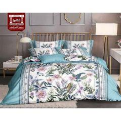 طقم سرير مشجر مقاس كبير 4 قطع رسومات عصريه
