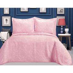 كوفرتة تكييف جاكار من نفس اللون بنقوش بارزة + هدية طقم سرير مشجر كبير