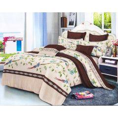 طقم سرير مشجر مقاس كبير 4 قطع